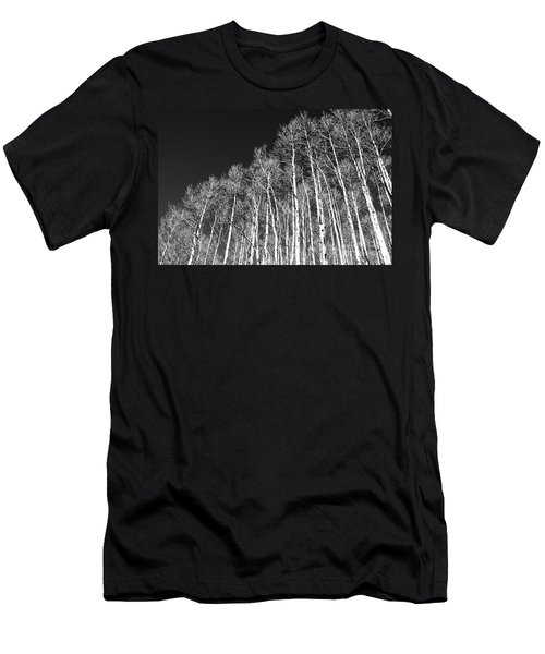 Men's T-Shirt (Slim Fit) featuring the photograph Winter Aspens by Roselynne Broussard