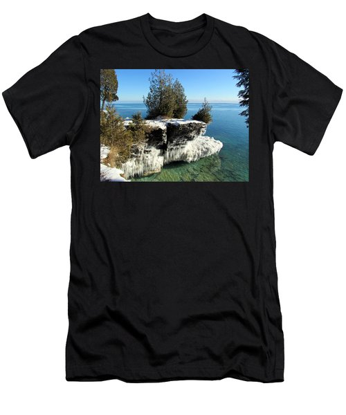 Winter At Cave Point Men's T-Shirt (Athletic Fit)