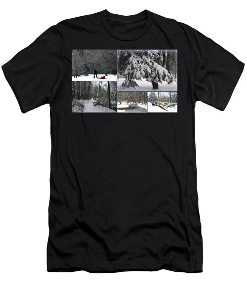 Men's T-Shirt (Slim Fit) featuring the photograph Winter At Petrifying Springs Park by Kay Novy