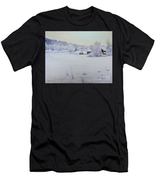 Winter Blanket Men's T-Shirt (Athletic Fit)