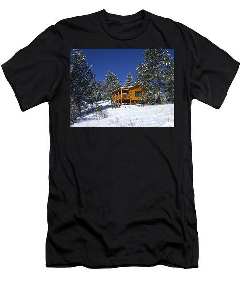 Winter Cabin Men's T-Shirt (Athletic Fit)