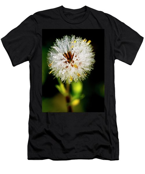 Men's T-Shirt (Slim Fit) featuring the photograph Winter Dandelion by Pedro Cardona