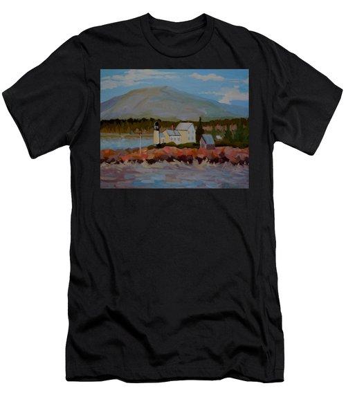 Winter Harbor Light Men's T-Shirt (Athletic Fit)
