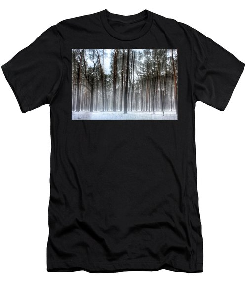 Winter Light In A Forest With Dancing Trees Men's T-Shirt (Athletic Fit)
