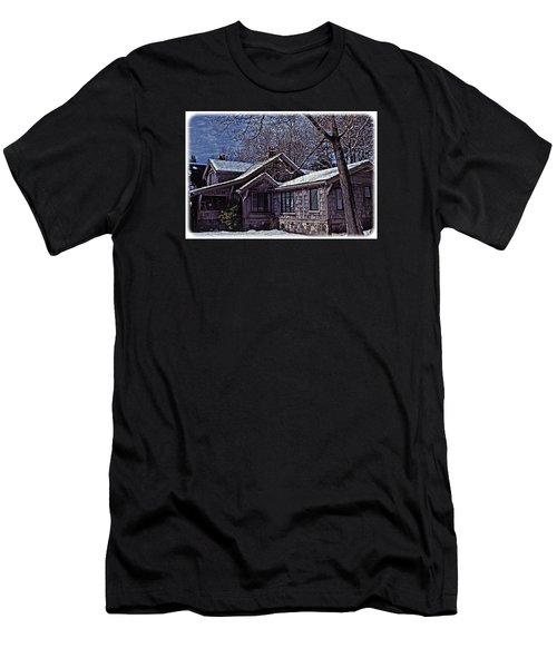 Men's T-Shirt (Slim Fit) featuring the digital art Winter Lodge by Richard Farrington