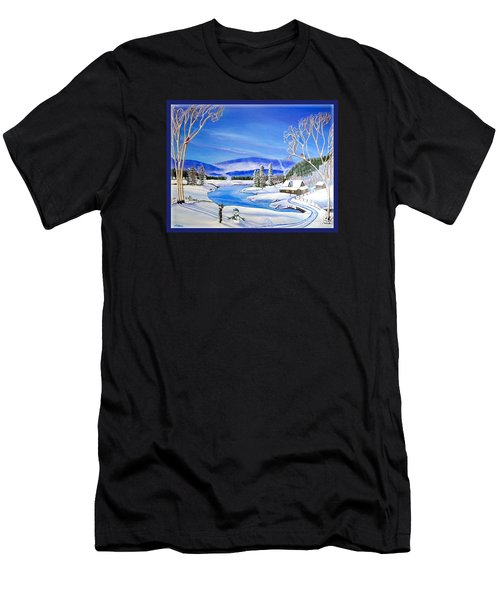Winter Magic At A Mountain Getaway Men's T-Shirt (Athletic Fit)