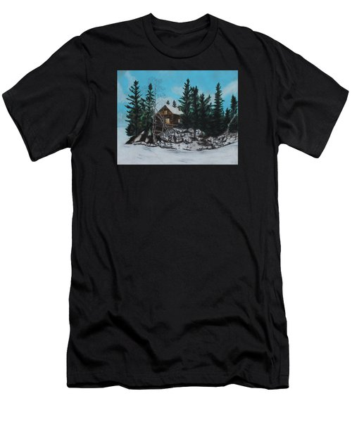 Winter Marshland Men's T-Shirt (Slim Fit) by Jeanne Fischer