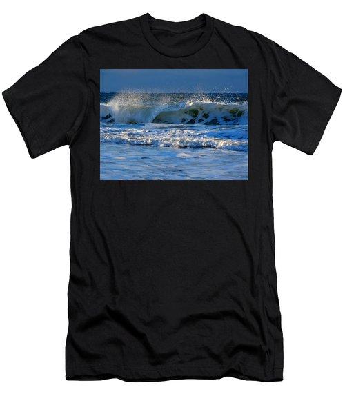 Winter Ocean At Nauset Light Beach Men's T-Shirt (Athletic Fit)