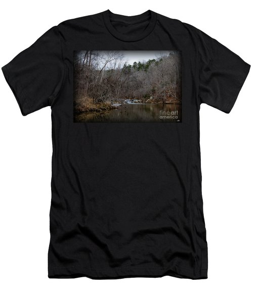 Winter On The Eno River At Fews Ford Men's T-Shirt (Athletic Fit)