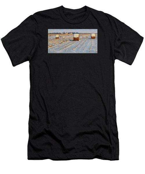 Winter Stubble Bales Men's T-Shirt (Slim Fit) by Bruce Morrison