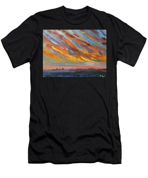 Winter Sunrise Over Provincetown Men's T-Shirt (Athletic Fit)