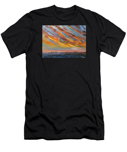 Winter Sunrise Over Provincetown Men's T-Shirt (Athletic Fit)