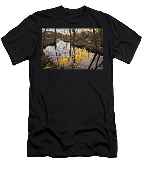 Men's T-Shirt (Slim Fit) featuring the photograph Winter Sunset At Williston Mill by Brian Wallace