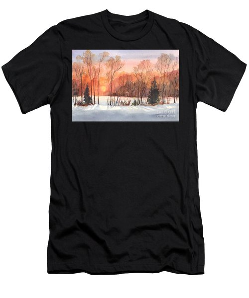 A Hedgerow Sunset Men's T-Shirt (Athletic Fit)