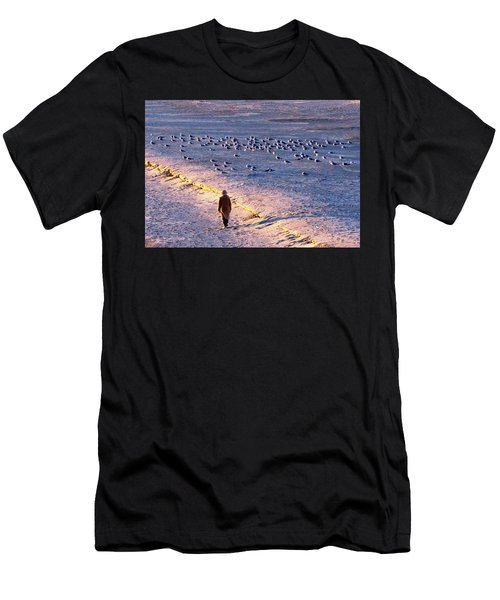 Winter Time At The Beach Men's T-Shirt (Athletic Fit)