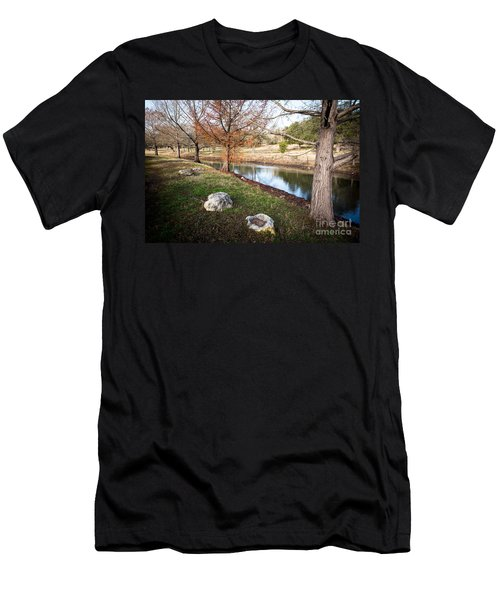 Men's T-Shirt (Athletic Fit) featuring the photograph Winter Trees by John Wadleigh