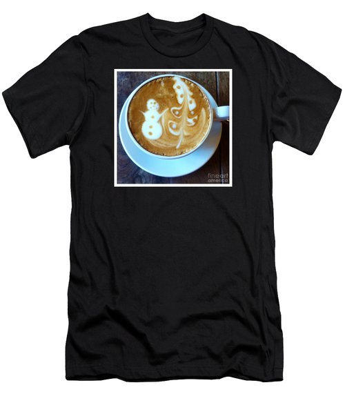 Winter Warmth Latte Men's T-Shirt (Athletic Fit)