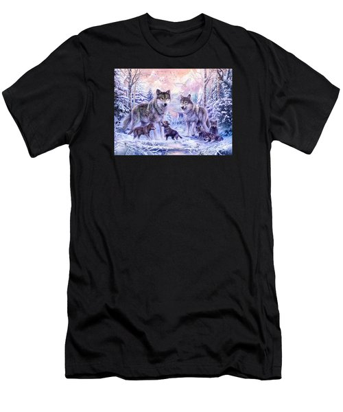 Winter Wolf Family  Men's T-Shirt (Athletic Fit)
