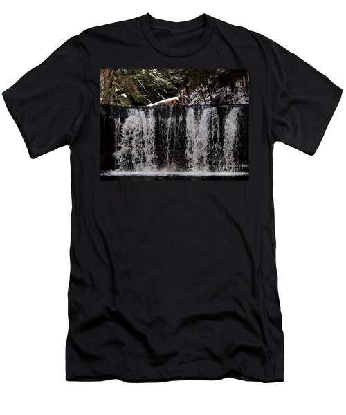 Winter Woodland Waterfall Men's T-Shirt (Athletic Fit)