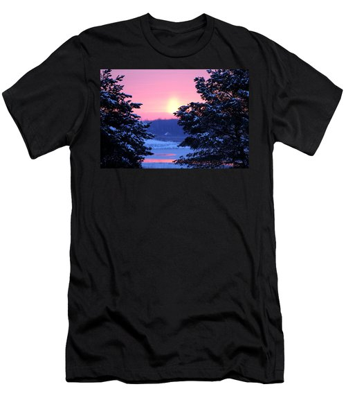 Men's T-Shirt (Slim Fit) featuring the photograph Winter's Sunrise by Elizabeth Winter