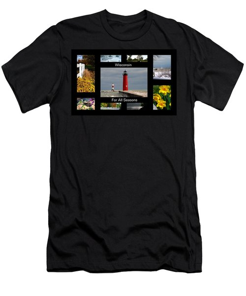 Men's T-Shirt (Slim Fit) featuring the photograph Wisconsin For All Seasons by Kay Novy