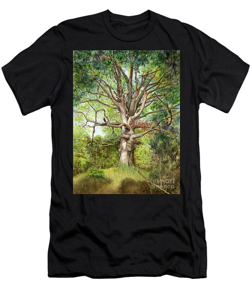 Men's T-Shirt (Athletic Fit) featuring the painting Wisdom by Nancy Cupp