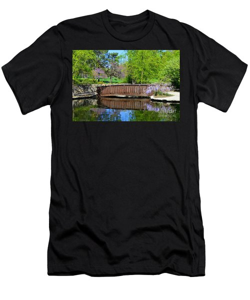 Wisteria In Bloom At Loose Park Bridge Men's T-Shirt (Athletic Fit)