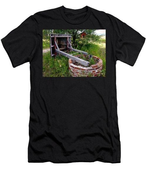 Wistful Well Men's T-Shirt (Slim Fit) by Meghan at FireBonnet Art