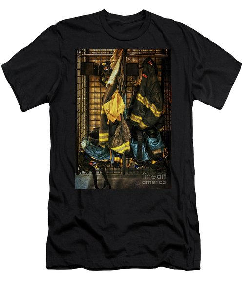 Men's T-Shirt (Slim Fit) featuring the photograph Within A Brotherhood You Never Walk Alone by Debra Fedchin