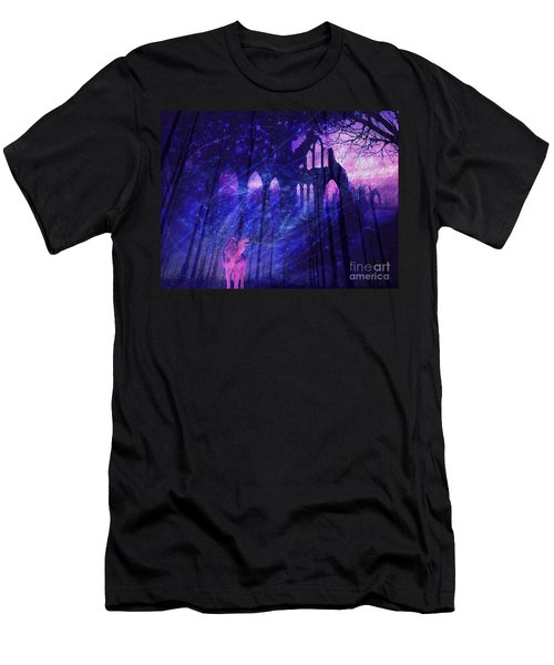 Wolf And Magic Men's T-Shirt (Athletic Fit)