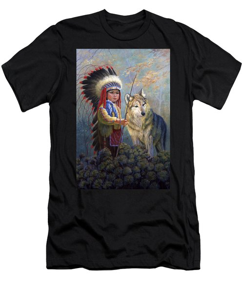 Wolf Boy Men's T-Shirt (Athletic Fit)