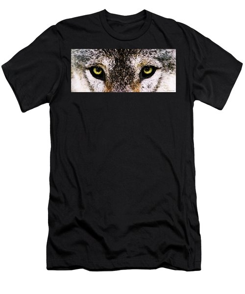 Wolf Eyes By Sharon Cummings Men's T-Shirt (Athletic Fit)