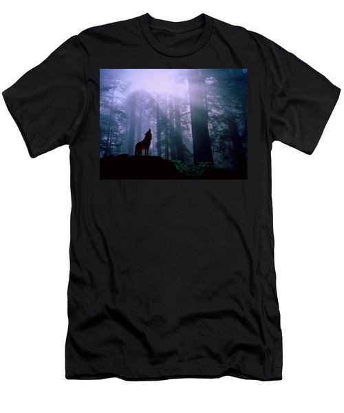 Wolf In The Woods Men's T-Shirt (Athletic Fit)