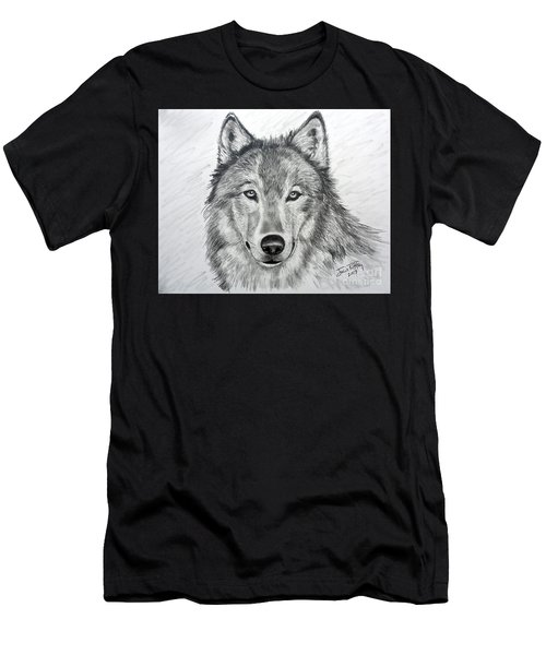 Wolf Men's T-Shirt (Slim Fit) by Julie Brugh Riffey