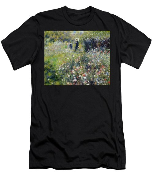 Woman With A Parasol In A Garden, 1875 Men's T-Shirt (Athletic Fit)