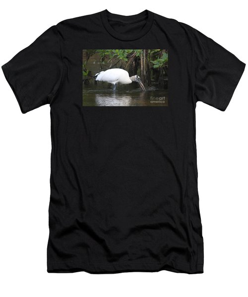 Wood Stork In The Swamp Men's T-Shirt (Slim Fit) by Christiane Schulze Art And Photography