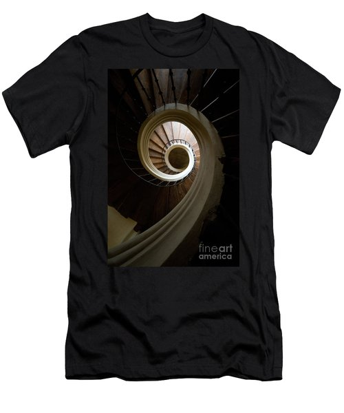 Men's T-Shirt (Athletic Fit) featuring the photograph Wooden Spiral by Jaroslaw Blaminsky