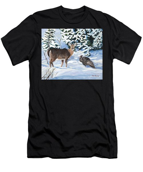 Woodland Creatures Meet Men's T-Shirt (Athletic Fit)