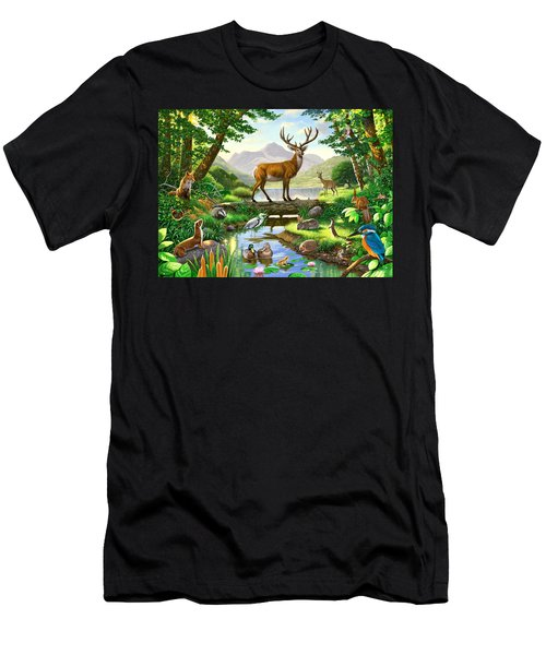 Woodland Harmony Men's T-Shirt (Slim Fit) by Chris Heitt