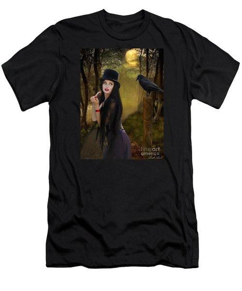 Words Of The Crow Men's T-Shirt (Slim Fit) by Linda Lees