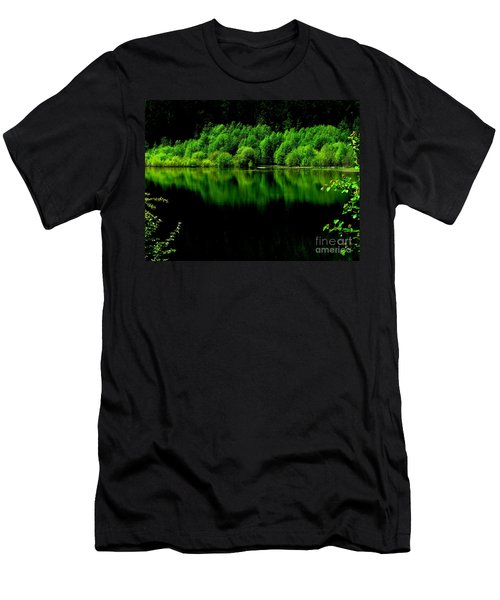 Work In Green Men's T-Shirt (Slim Fit) by Greg Patzer