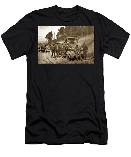 Workers On Highway One Monterey Carmel Hill California 1929 Men's T-Shirt (Athletic Fit)