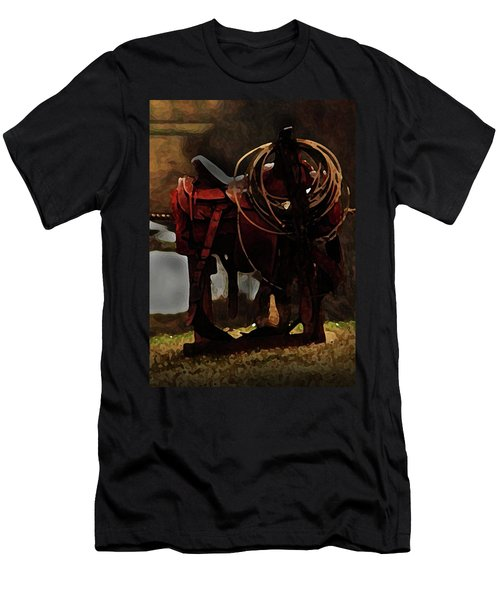 Working Man's Saddle Men's T-Shirt (Athletic Fit)