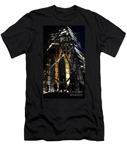 World Trade Center Museum At Night Men's T-Shirt (Athletic Fit)