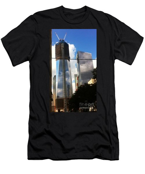 World Trade Center Twin Tower Men's T-Shirt (Slim Fit) by Susan Garren