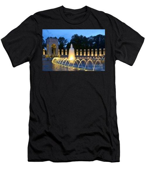World War II Memorial Men's T-Shirt (Slim Fit) by Allen Beatty
