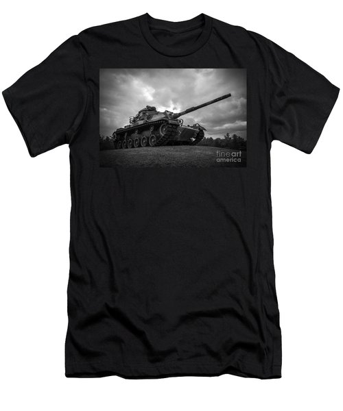 World War II Tank Black And White Men's T-Shirt (Athletic Fit)