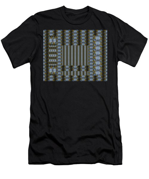 Woven Blue And Gold Mosaic Men's T-Shirt (Athletic Fit)