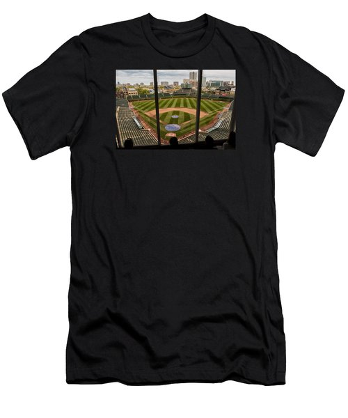 Wrigley Field Press Box Men's T-Shirt (Athletic Fit)