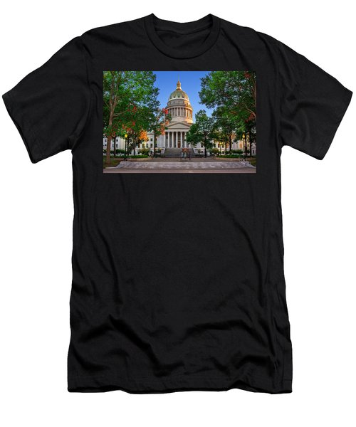 Wv Capitol As Dusk Men's T-Shirt (Slim Fit) by Mary Almond